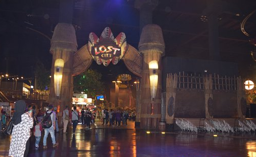 Wahana permainan di The Lost City